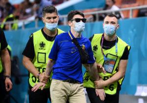 România: Un bărbat îmbrăcat într-un tricou al naționalei Republicii Moldova a intrat pe teren la meciul Franța-Elveția