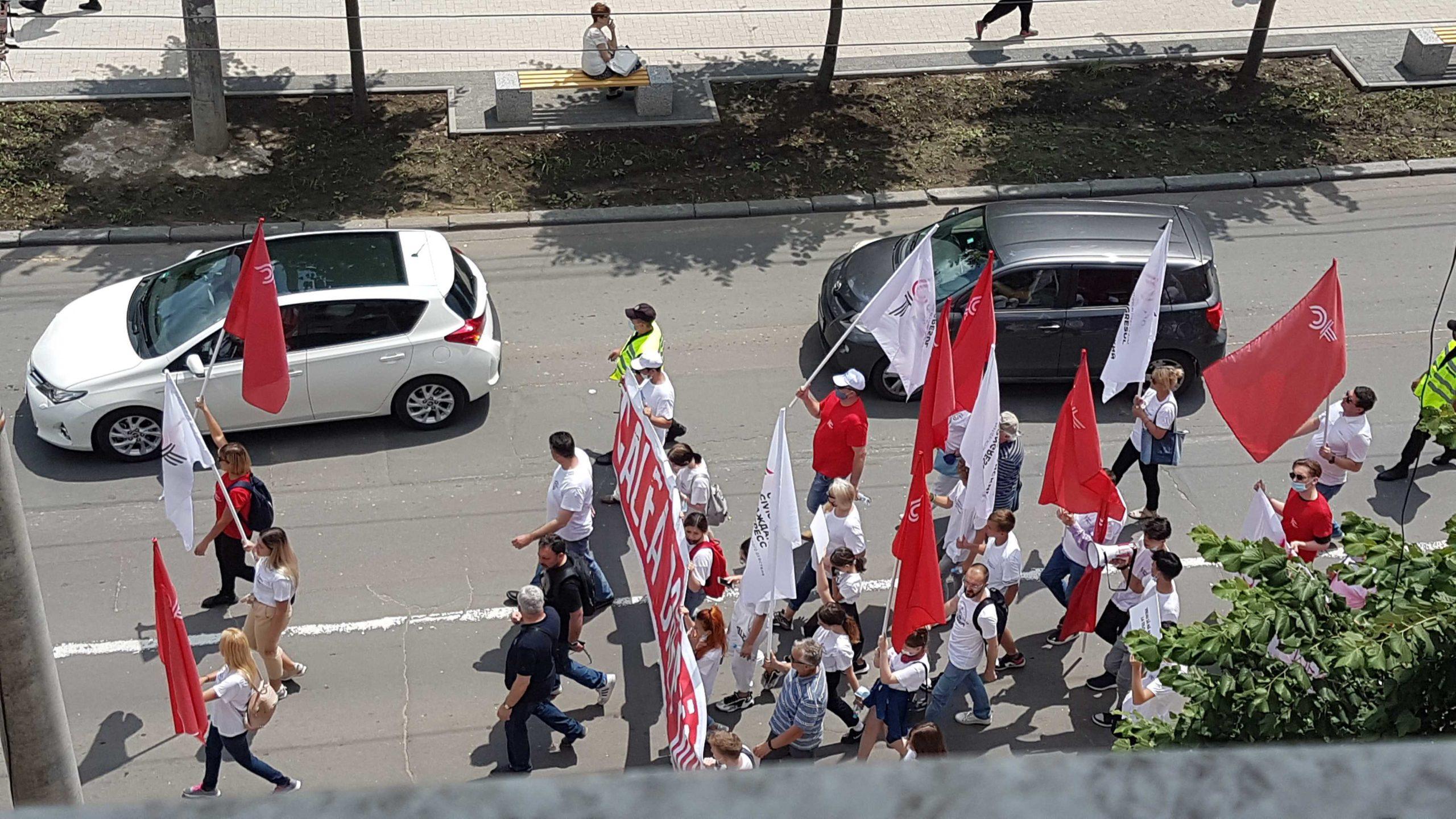 ВКишиневе прошел марш «Гражданского конгресса» (ВИДЕО/ФОТО)