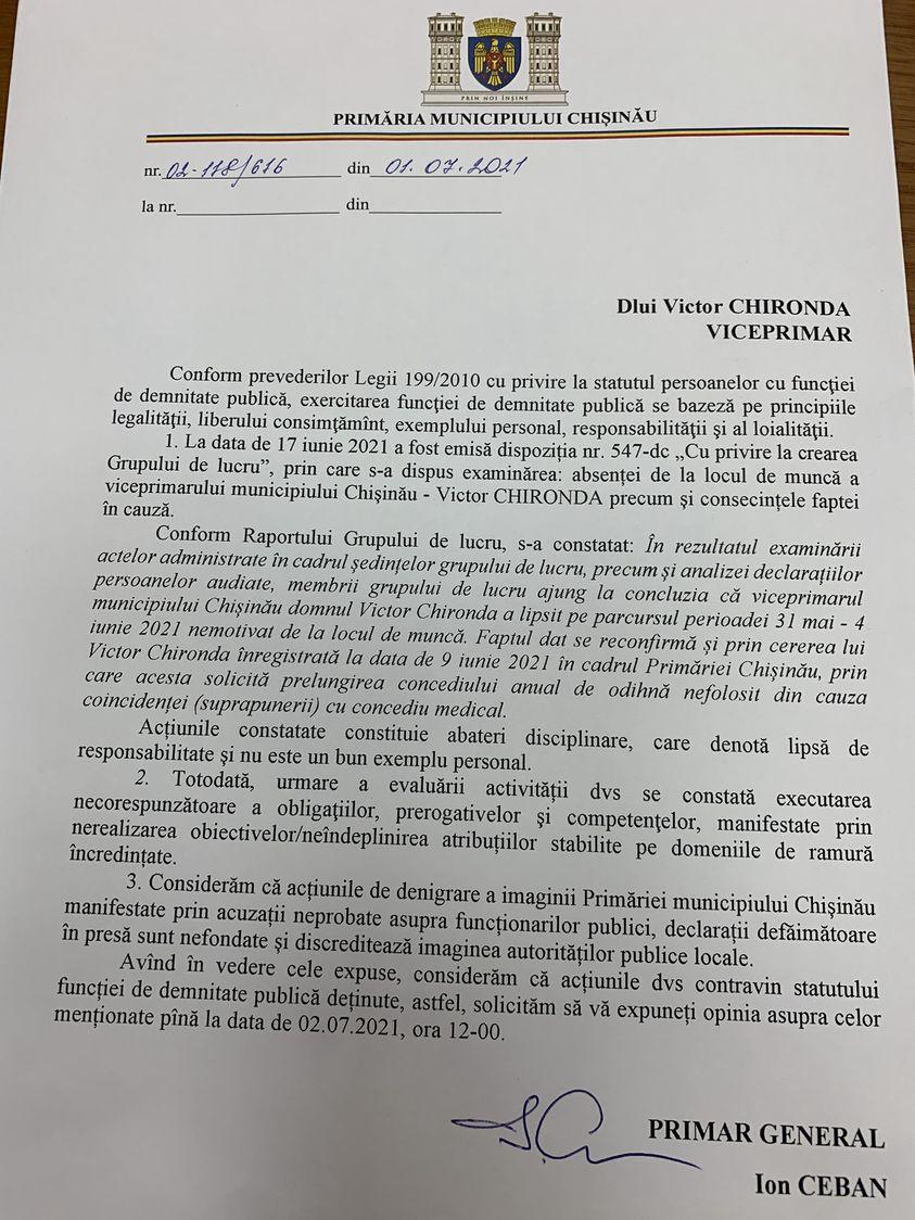 Киронда: «Насегодняшнем заседании мунсовета Кишинева потребуют моей отставки»