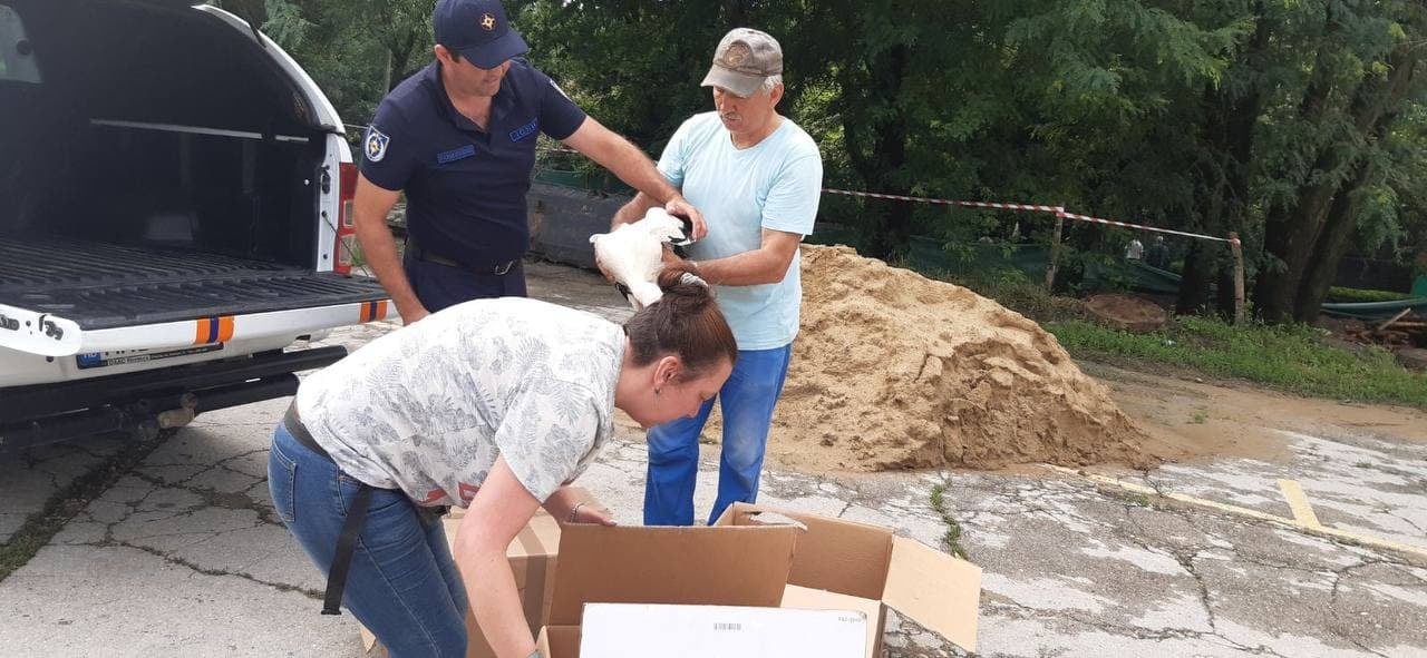 В Каушанах пожарные спасли птенцов аиста, выпавших из гнезда (ФОТО)