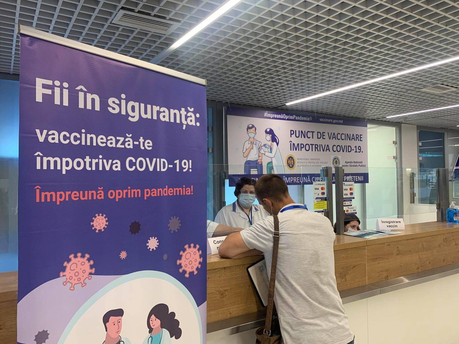 В аэропорту Кишинева открыли пункт вакцинации от коронавируса (ФОТО)