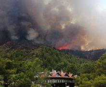 В Мармарисе из-за лесных пожаров эвакуируют туристов (ВИДЕО)