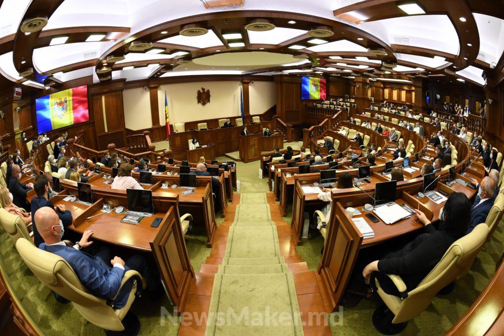 O ședință de o oră. Noul Parlament a fost constituit. Fotoreportaj NM