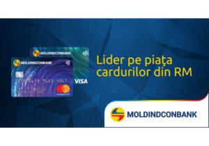 Каждый третий держатель карты в Молдове — клиент Moldindconbank