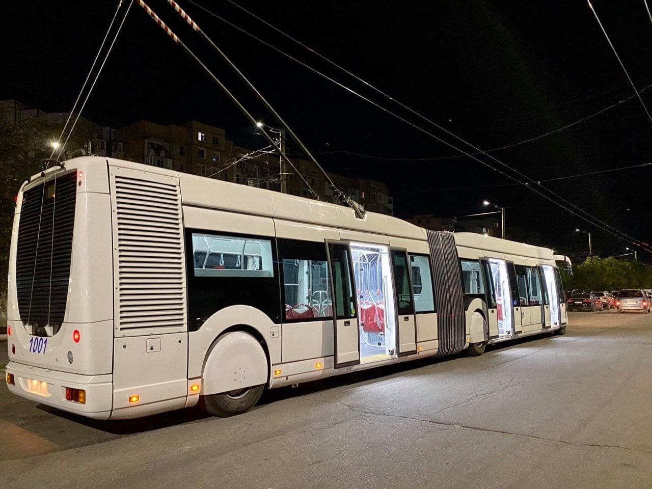ВКишиневе начали тестировать один издвух итальянских троллейбусов (ФОТО)