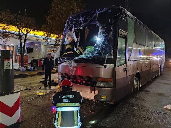 Рейсовый автобус Кишинев-Москва перевернулся в Киеве (ФОТО/ВИДЕО)