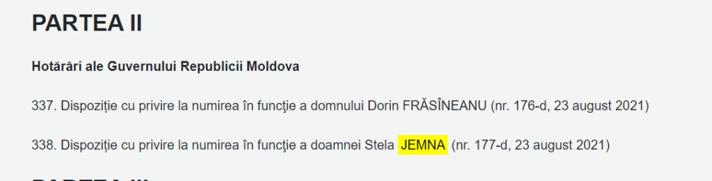 Premierul Natalia Gavrilița are un nou șef de cabinet. CV-ul Stelei Jemna