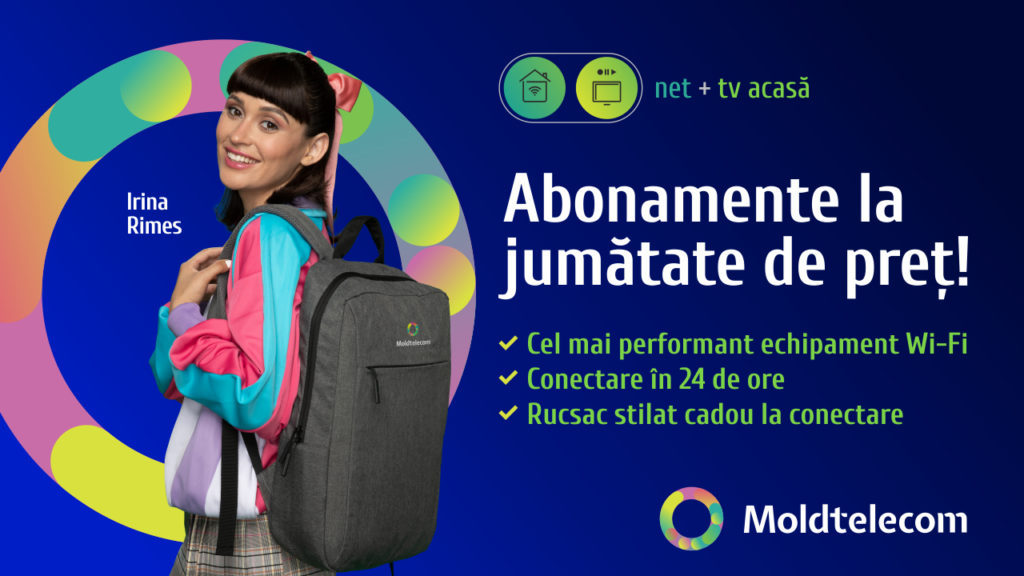 Toate abonamentele de la Moldtelecom, acum la jumătate de preț! La combinarea a 2 sau mai multe servicii ai și cadou garantat!