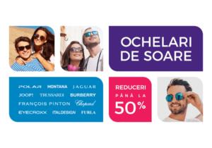 Mega reduceri de până la 50% la ochelari de soare originali