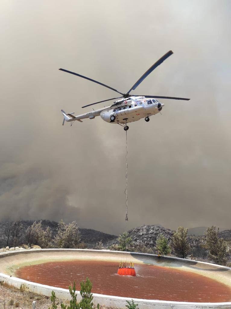Пожары вТурции помогают тушить пять вертолетов изМолдовы (ВИДЕО)