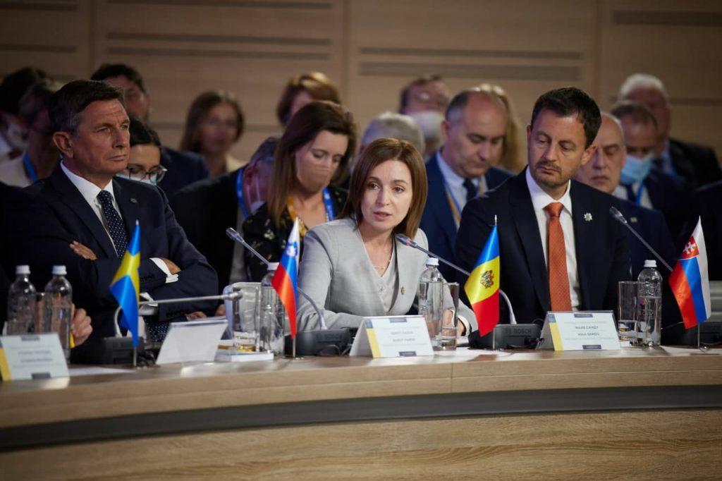 """Maia Sandu, la summitul de la Kiev: """"Trebuie să combatem împreună amenințările la adresa securității regionale"""""""