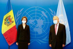 Санду обсудила сгенсеком ООН проблемы, скоторыми сталкивается Молдова