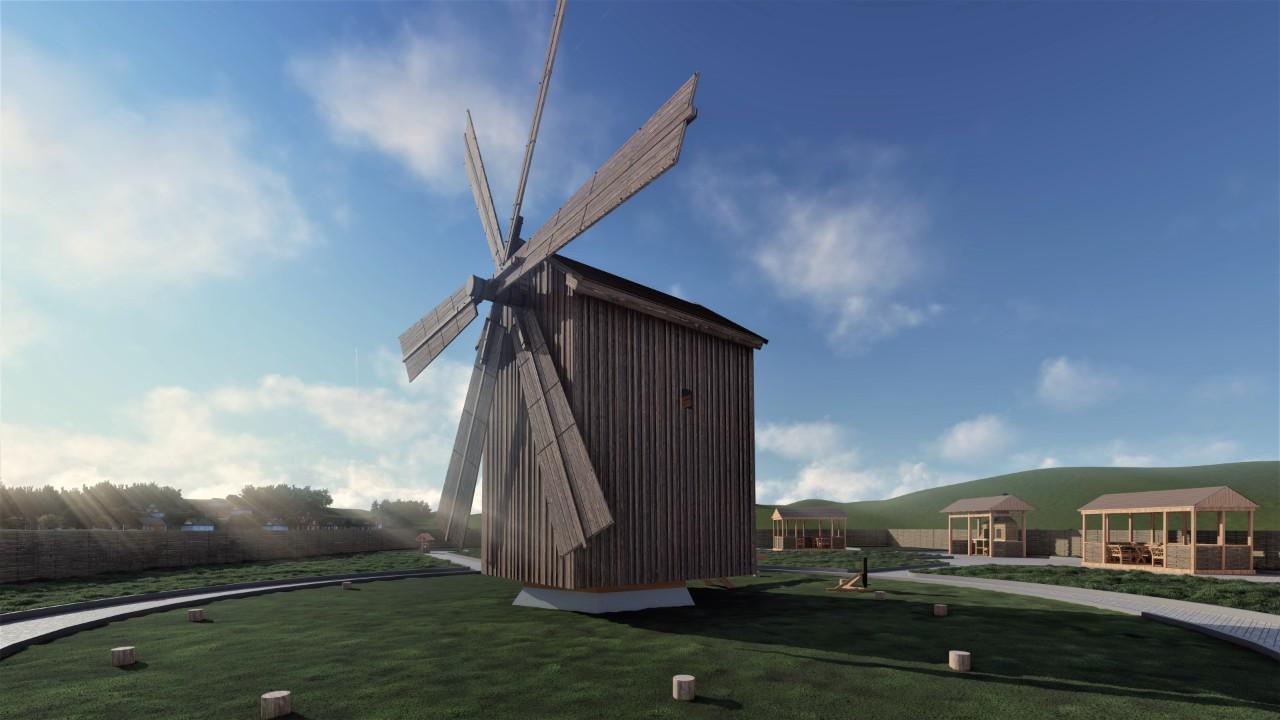 Ветряную мельницу вселе Гайдар отреставрируют наденьгиЕС (ФОТО)