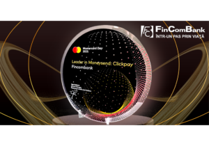 FinComBank S.A. удостоен от Mastercard награды «Leader in Moneysend:Clickpay.md» за лидерство в области денежных переводов!