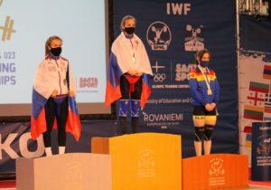 Halterofila Concordia Butnari a obținut medalia de bronz la Europenele U23