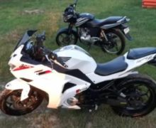 ВСтрашенах полиция задержала угонщика мотоциклов, прятавшегося отнаказания влесу