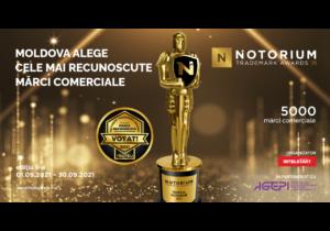 Concursul Mărcilor Recunoscute NOTORIUM revine cu a VI-a ediție în anul 2021