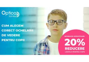 Cum alegem corect ochelarii de vedere pentru copii?