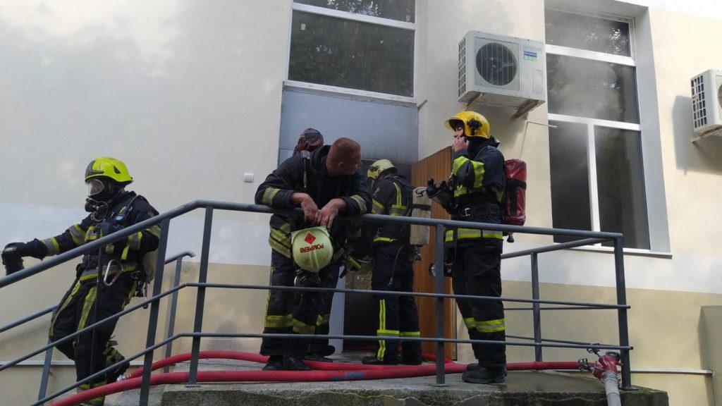 Incendiu la Centrul de Excelență în Economie și Finanțe din capitală (FOTO)