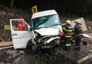 ВРумынии микроавтобус смолдавскими гражданами попал в аварию