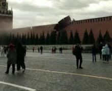 ВМоскве из-за сильного ветра обрушился один иззубцов Кремля (ВИДЕО)