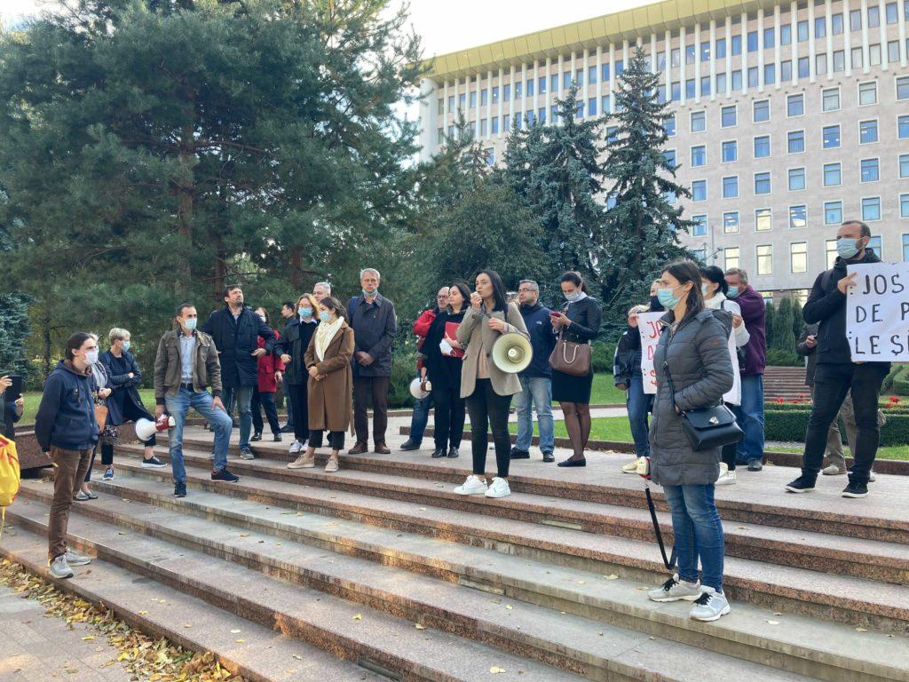 «Мы не овощи, а граждане». Как в Кишиневе протестовали в поддержку Стояногло
