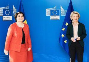 «ЕСвыделит Молдове €60млн, чтобы справиться сгазовым кризисом». Гаврилица встретилась с главой Еврокомиссии