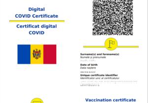 De astăzi, moldovenii pot descărca Certificatul COVID-19. Acesta include certificatul de vaccinare, de testare sau recuperare
