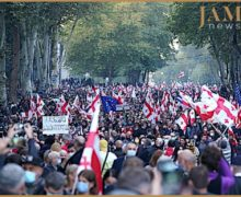 «Свободу Мише!» В Тбилиси приходит митинг за освобождение Саакашвили (ВИДЕО)