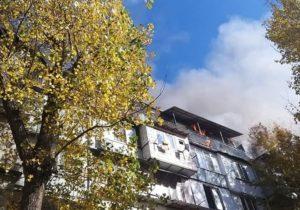 Incendiu în sectorul Buiucani al capitalei. Au fost mobilizați peste 70 de pompieri (FOTO/VIDEO)