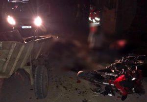 Telenești: O minoră și un tânăr de 18 ani au murit după ce motocicleta cu care se deplasau s-a izbit într-o căruță